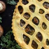 Tourte de kale, champignons et butternut